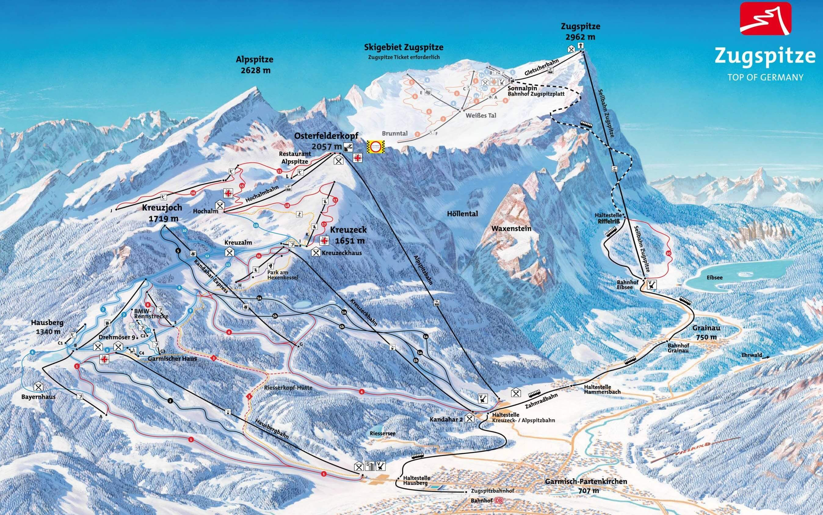 Garmisch Partenkirchen slopes